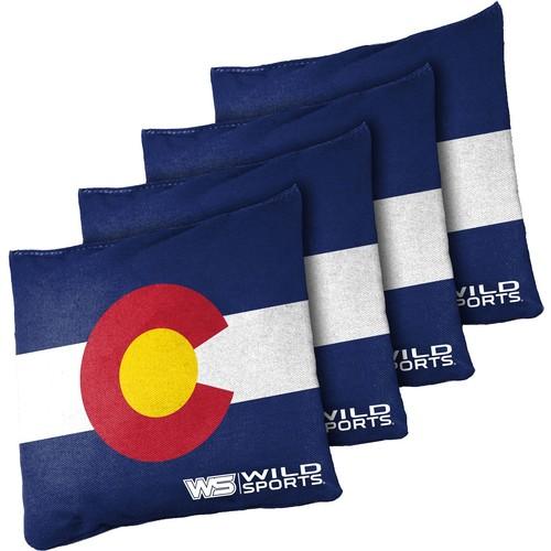 Wild Sports Colorado State Flag Cornhole 16 oz. Bean Bags