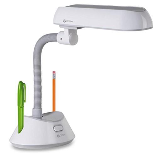 OttLite U15WG8 Refresh Table Lamp in White