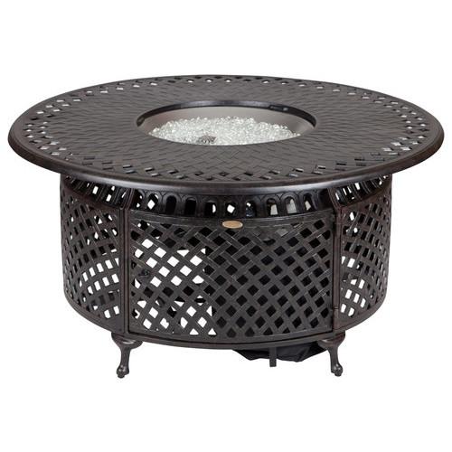 Fire Sense - Venza Cast Aluminum Fire Pit - Bronze