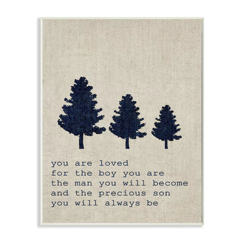 'You are Loved Son Trees' Wall Plaque Art