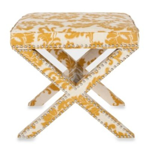 Safavieh Palmer Ottoman in Maize