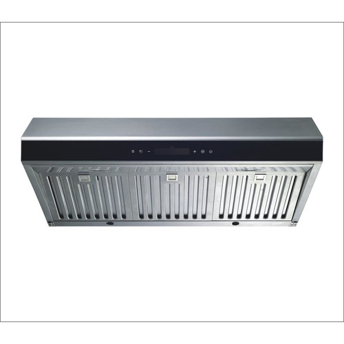 Winflo 30 in. Under Cabinet Ducted Kitchen Range Hood in Stainless Steel with LED Lights and Touch Control