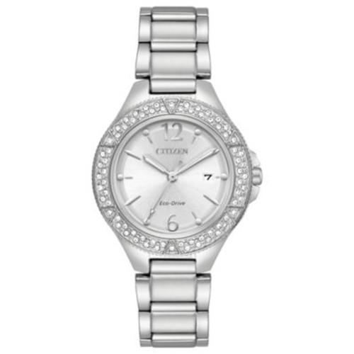 Citizen Silhouette Ladies' 31mm Swarovski Crystal Watch in Stainless Steel