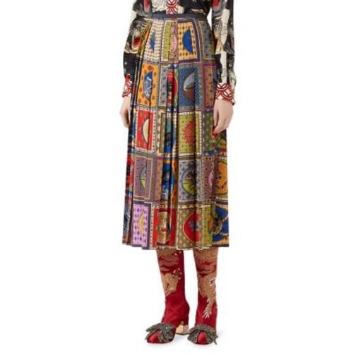 GUCCI Pleated Tarot Card Skirt
