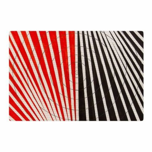 East Urban Home NL Designs Optical Illusions Red/Black Area Rug; 2' x 3'