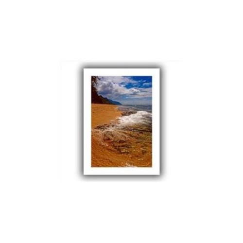 Artwal Sky, Surf, and Sand Unwrapped Canvas Art by Kathy Yates, 16 x 24 Inch