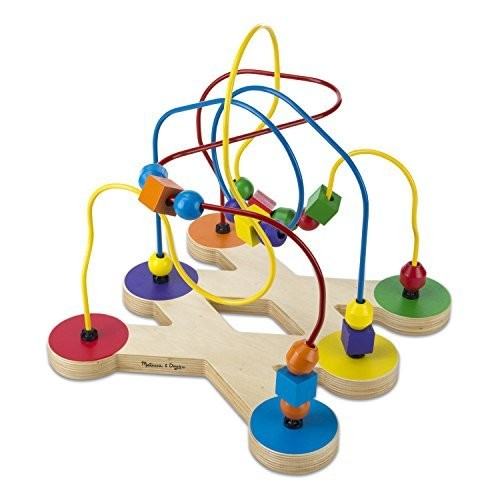 Melissa & Doug Classic Bead Maze - Wooden Educational Toy [Standard Version]