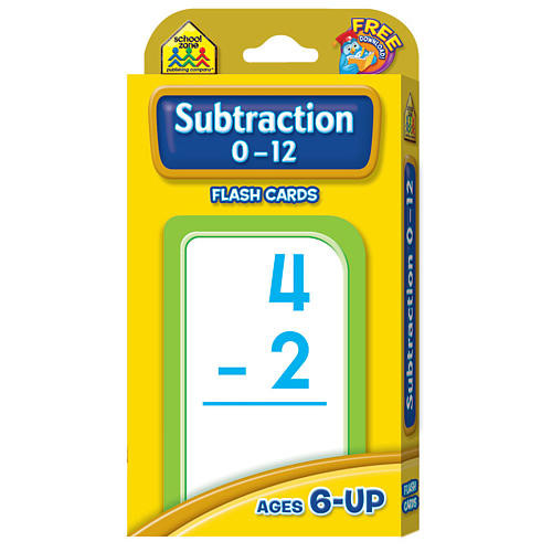 Subtraction Flashcards 0-12 (Styles Vary)