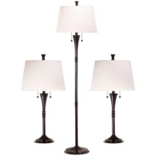 Kenroy Home Park Avenue 29 in. Oil-Rubbed Bronze 2 Table and 1 Floor Lamp Set