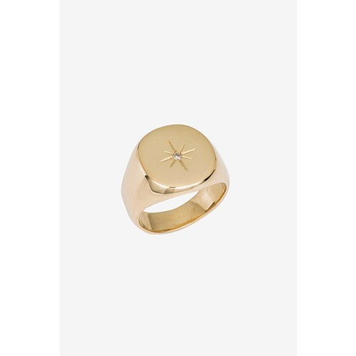 GOLD RING WITH DIAMOND STAR