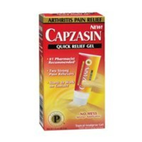 Capzasin Arthritis Pain Relief, Quick Relief Gel, No Mess Sponge Applicator 1.5 oz (42.5 g)