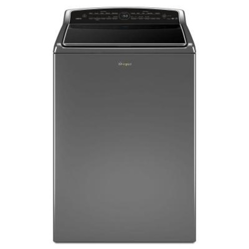 Whirlpool 5.3 cu. ft. Smart Top Load Washer with Remote Control in Chrome Shadow