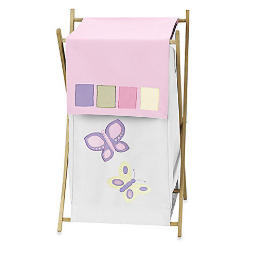 Sweet Jojo Designs Butterfly Laundry Hamper in Pink/Purple