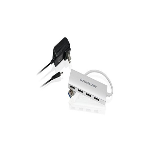 IOGEAR Met P4P Hub, 4-Port USB 3.0 Powered Hub with Aluminum Chassis, GUH304P
