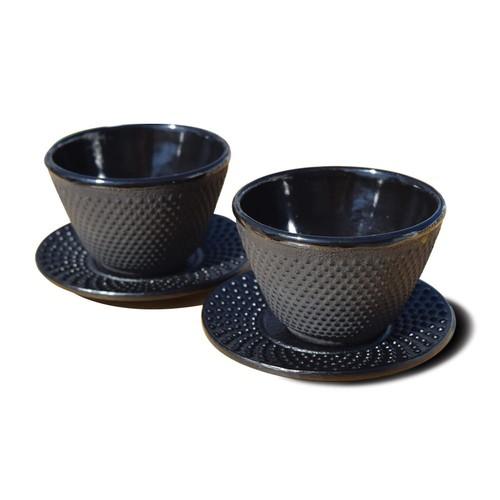 Dutch 2-pc. Cast-Iron Teacup & Saucer Set