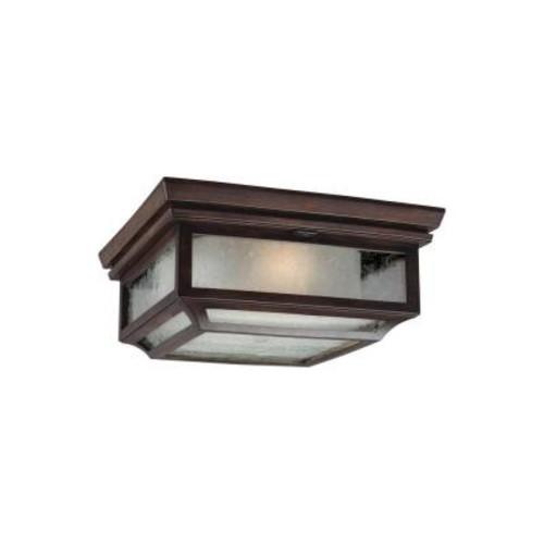 Feiss Shepherd 2-Light Heritage Copper Outdoor Ceiling Fixture