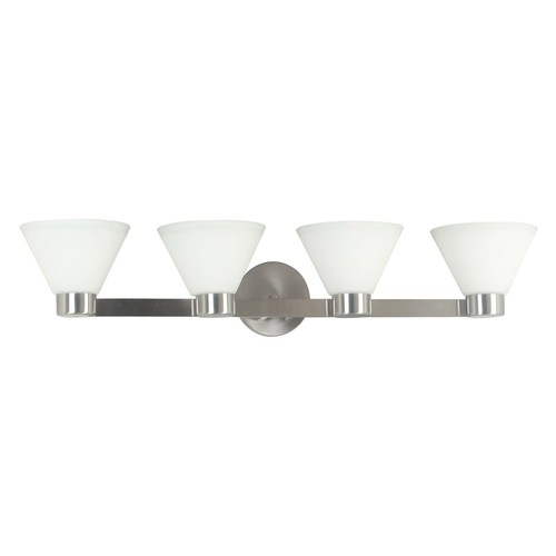 Kenroy Home 91794BS Maxwell 4 Light Vanity, Brushed Steel Finish [4 light vanity]