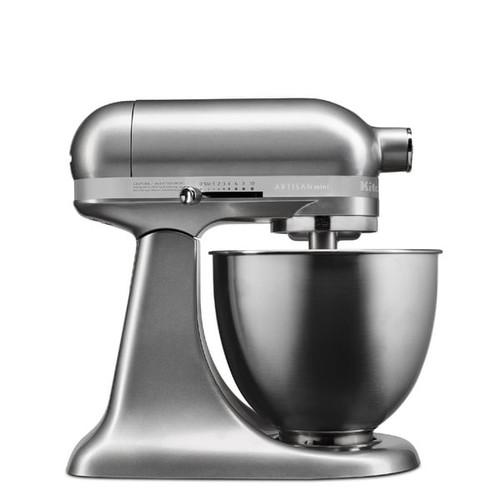 KitchenAid Medallion Silver Artisan Mini 3.5 Quart Tilt-Head Stand Mixer (Refurbished)