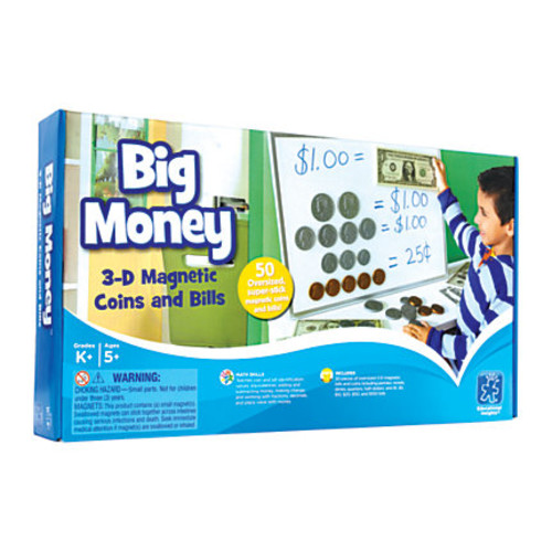 Educational Insights Big Money Magnetic Coins And Bills, 16