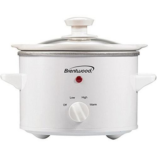 Brentwood Appliances SC-115W Slow Cooker, 1.5-Quart, White Body