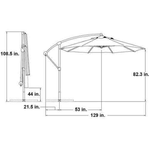 Island Umbrella Santiago 10-ft Octagonal Cantilever Umbrella