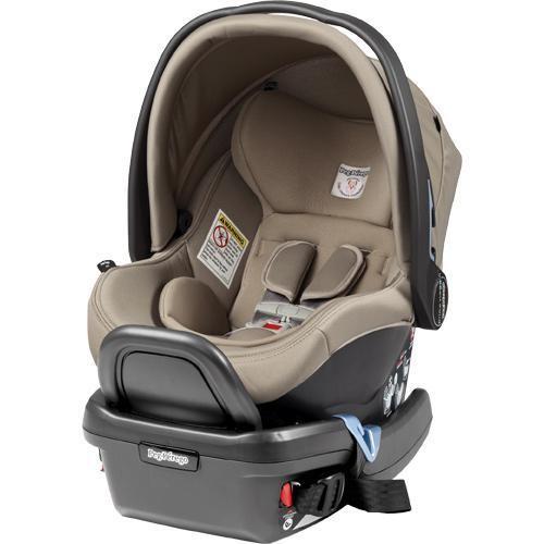 Peg Perego Primo Viaggio 4/35 Leather Infant Car Seat - Paloma - Cream