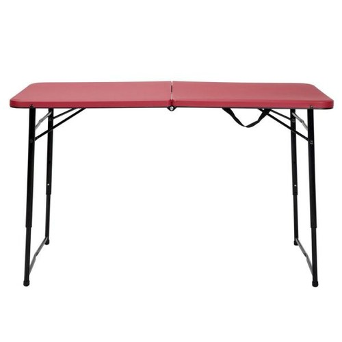 Cosco Red Adjustable Folding Tailgate Table
