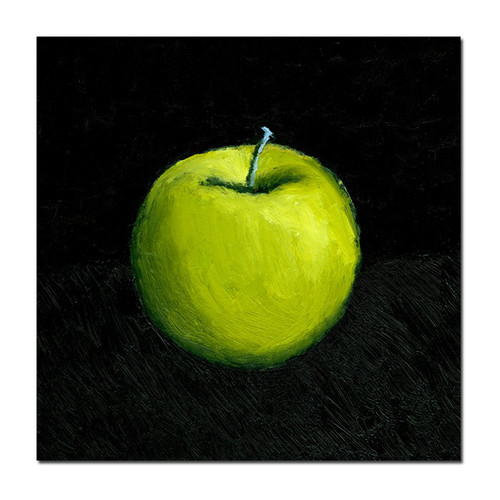 Trademark Global Michelle Calkins 'Green Apple Still Life' Canvas Art [Overall Dimensions : 18x18]