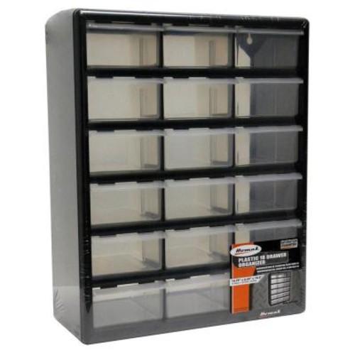 Homak 18-Compartment Storage Small Parts Organizer in Black