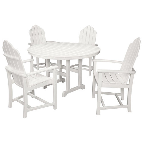 Hanover - 5-Piece All-Weather Patio Dining Set - White