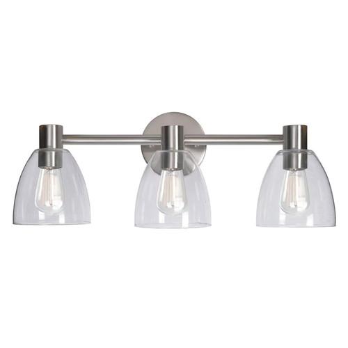 Kenroy Home Edis 3-Light Glass Vanity Light