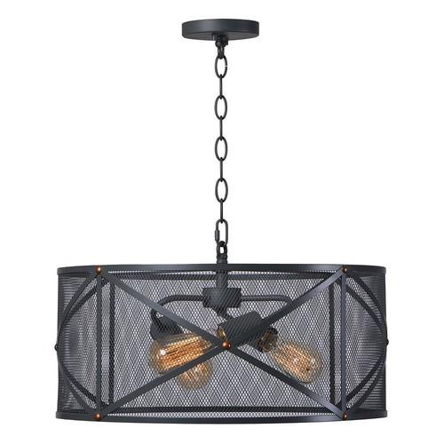 Kenroy Home Black 3-Light Pendant Ceiling Lamp