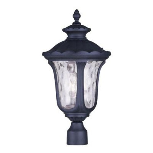 Livex Lighting Providence 3-Light 15.25 in. Outdoor Black Post Head Lantern