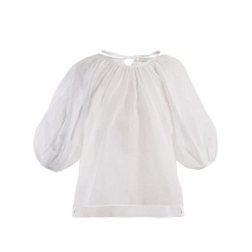 Astrid puff-sleeved cotton top