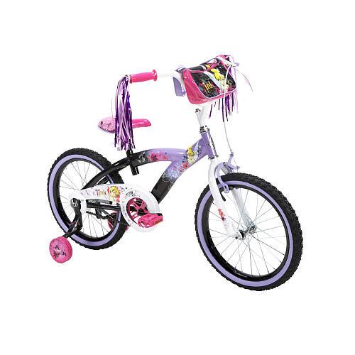 Girls 18 inch Huffy Disney Fairies Sassy Tink Bike