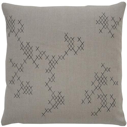 Exes Pillow [Fabric and Stitch : Hemp\/Black Stitch]