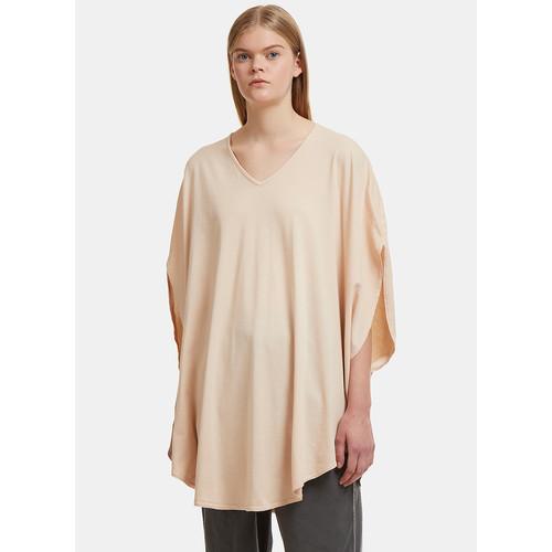 Circular Shirt Dress in Pale Peach