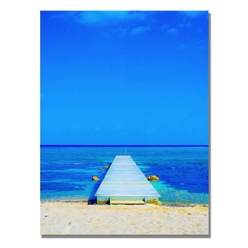 Beach-Pier by Preston, 18x24-Inch Canvas Wall Art [18 by 24-Inch]