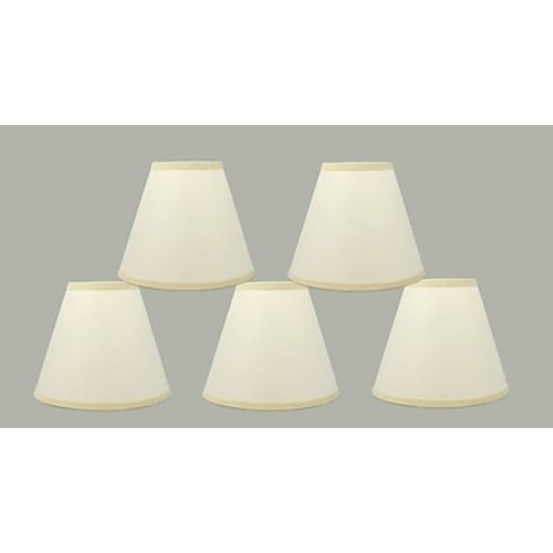 Charlton Home 6'' Paper Empire Clip-on Lamp Shade (Set of 5)