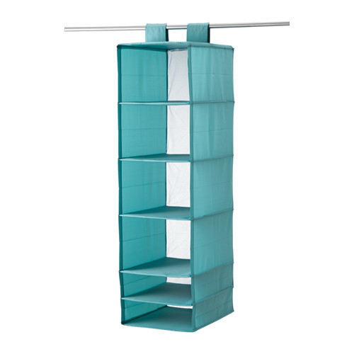 SKUBB Organizer with 6 compartments, light blue
