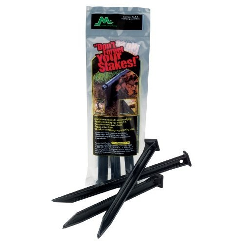 Master Mark Plastics 12103 ABS Plastic Stake Anchors For Landscape Edging, 10-Inch, 3 Pack