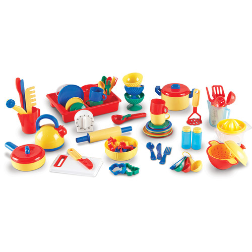 Learning Resources Pretend & Play Kitchen Set 70 Pcs