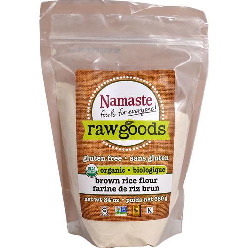 Namaste Foods Raw Goods Organic Brown Rice Flour -- 24 oz