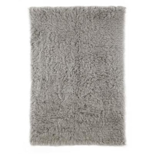 nuLOOM Genuine Greek Flokati Natural Grey 4 ft. x 6 ft. Area Rug