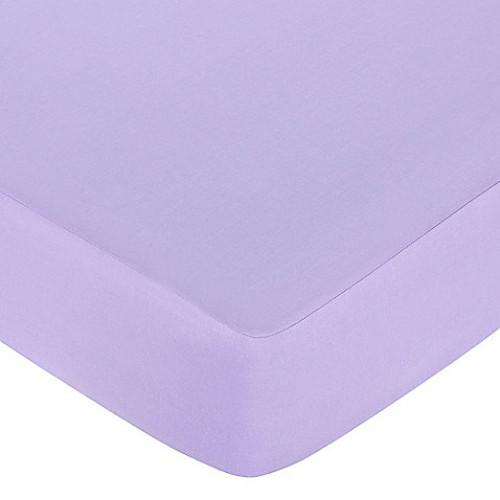 Sweet Jojo Designs Butterfly Fitted Crib Sheet in Purple