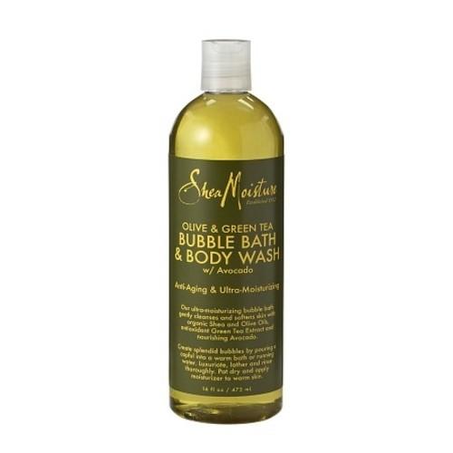 SheaMoisture Olive & Green Tea Bubble Bath & Body Wash, 16 fluid oz, 1 Bottle
