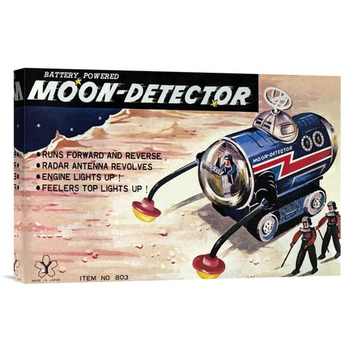 'Moon-Detector' by Retrotrans Vintage Advertisement on Wrapped Canvas