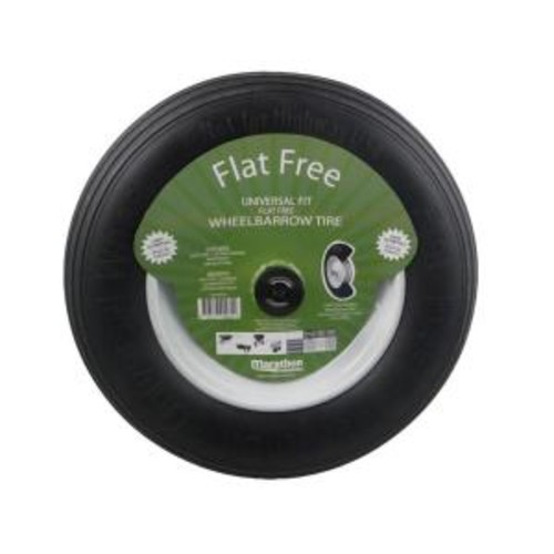 Marathon 14-1/2 in. Flat-Free Wheel for Wheelbarrows