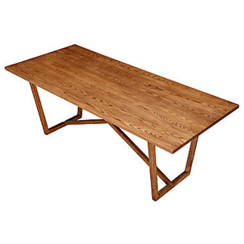 Tricolor Wood-Top Dining Table
