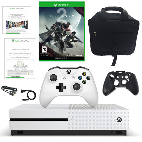 Microsoft Xbox One S 500GB Disti Console with Destiny 2 and Accessories